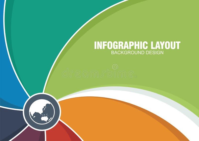 infographic或工作流模板的时髦的背景 向量例证