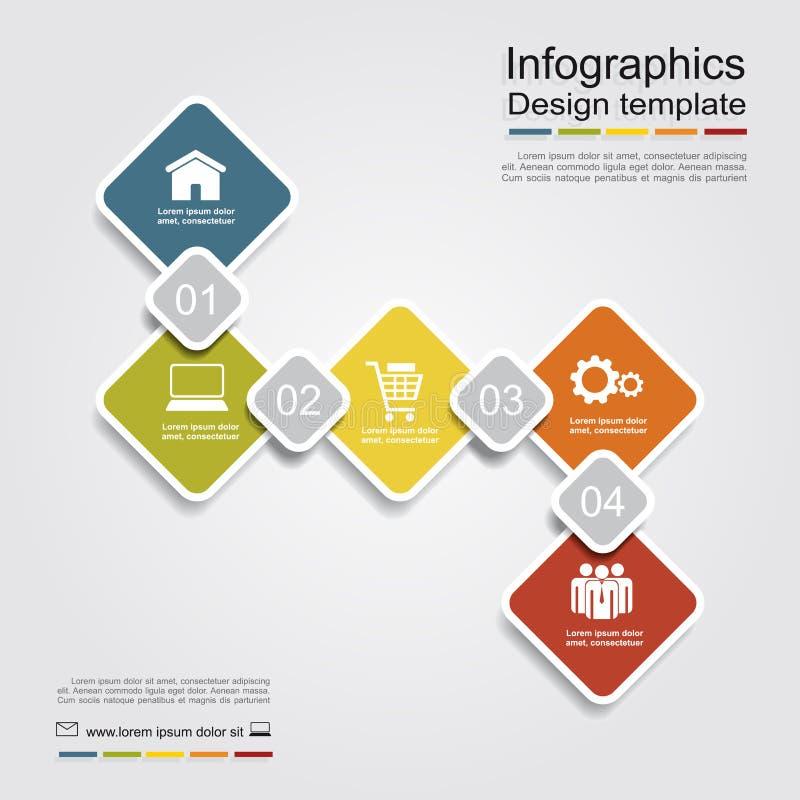 Infographic报告模板 也corel凹道例证向量 库存例证