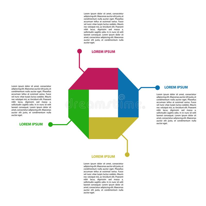 infographic抽象的事务 向量例证