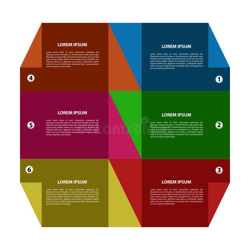 infographic抽象的事务 皇族释放例证