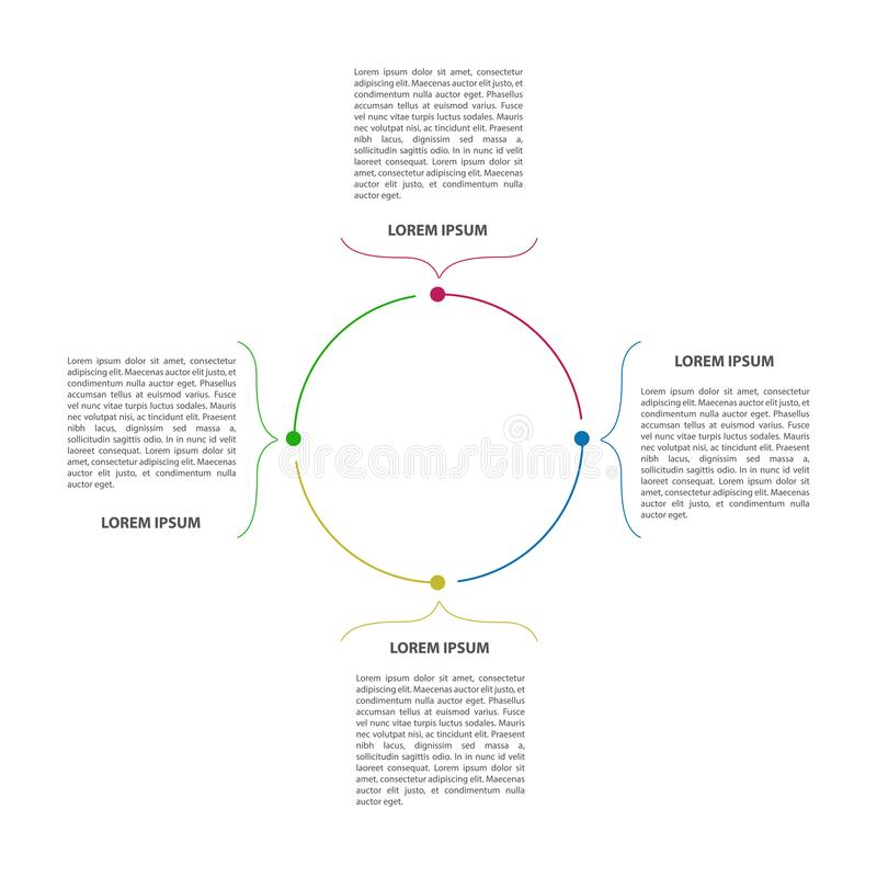 infographic抽象的事务 库存例证