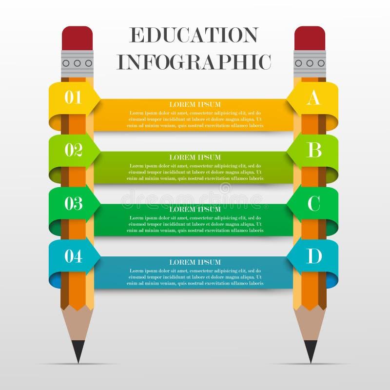 Infographic教育横幅 皇族释放例证