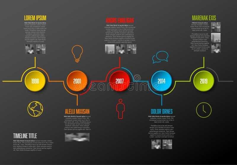Infographic时间安排模板 皇族释放例证