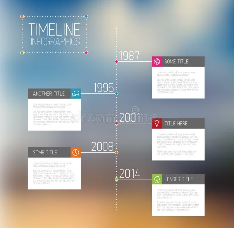 Infographic时间安排报告模板 库存例证