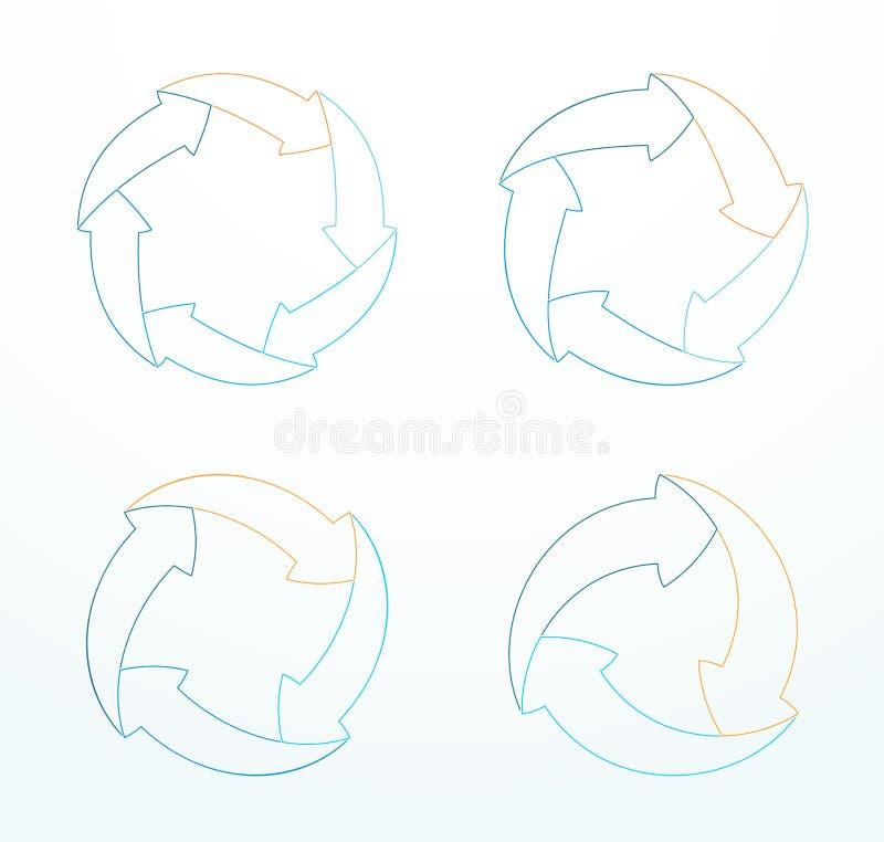 Infographic概述了箭头经济周期图A 向量例证