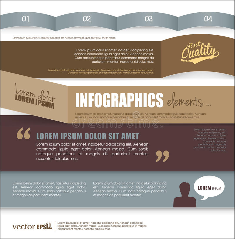 Infographic模板设计 向量例证