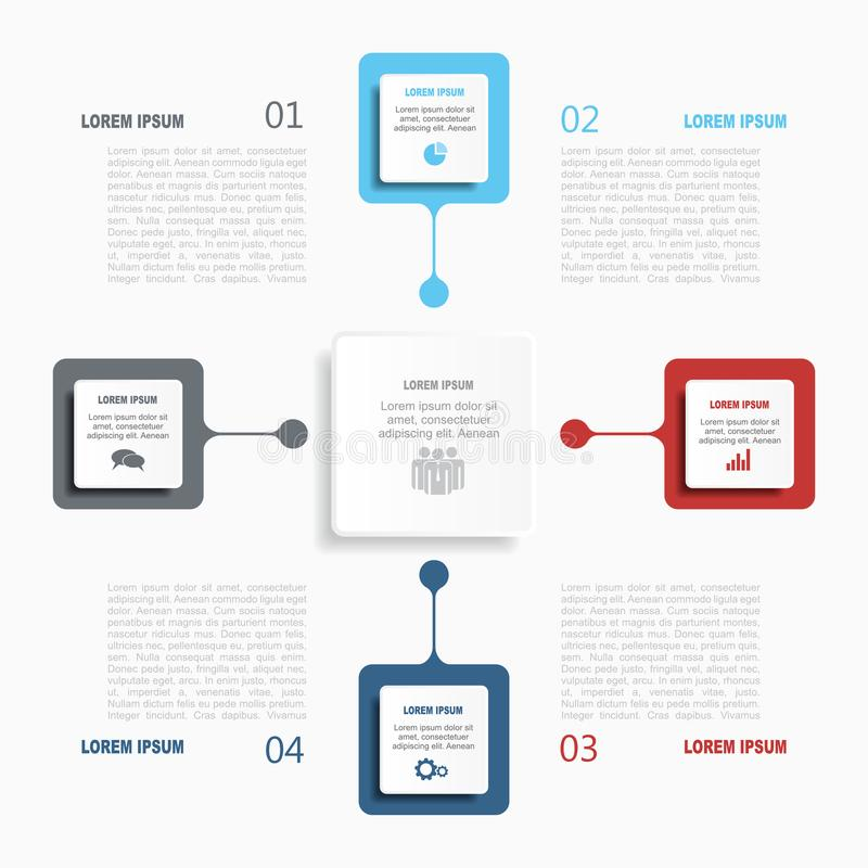 Infographic模板 也corel凹道例证向量 使用为工作流布局,图,企业步选择,横幅,网络设计 皇族释放例证