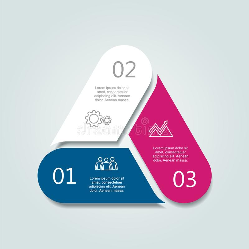 Infographic模板 能为工作流布局,图,企业步选择,横幅,网络设计使用 向量例证