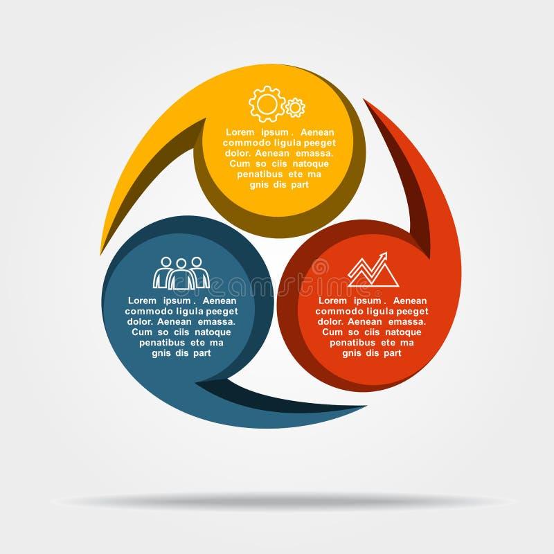 Infographic模板 能为工作流布局,图,企业步选择,横幅,网络设计使用 库存例证