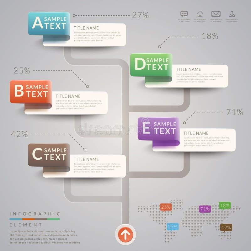 朴素infographic模板 库存例证