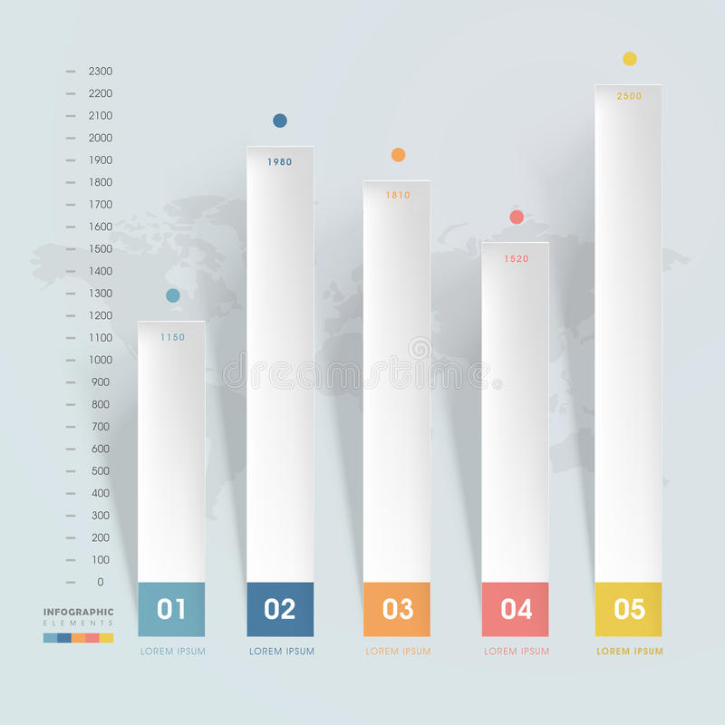 朴素infographic模板 向量例证