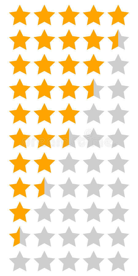 infographic橙黄五星的规定值 皇族释放例证
