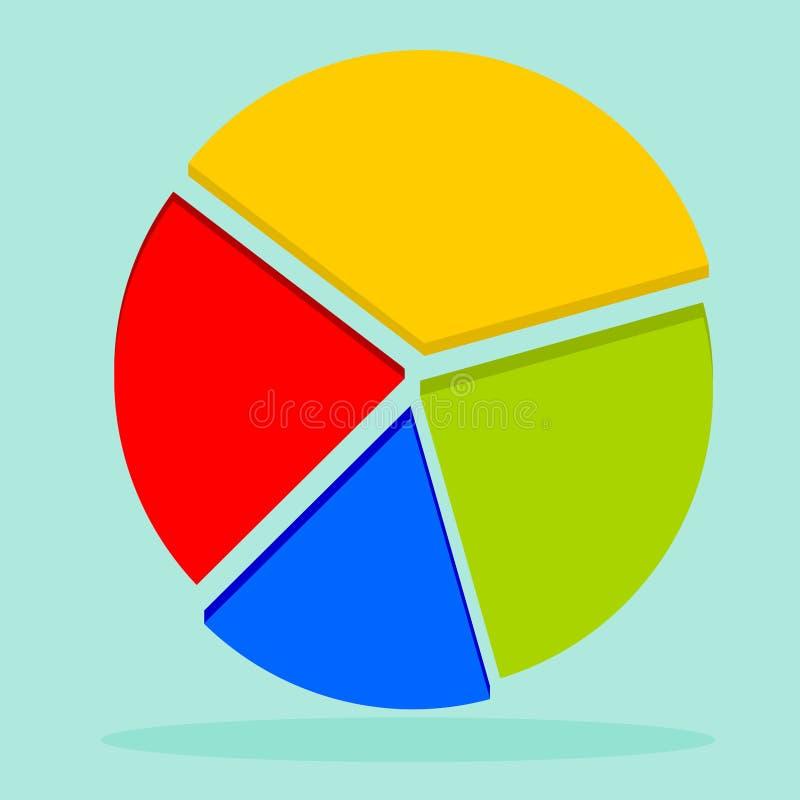 infographic现代传染媒介企业的圆形统计图表 皇族释放例证