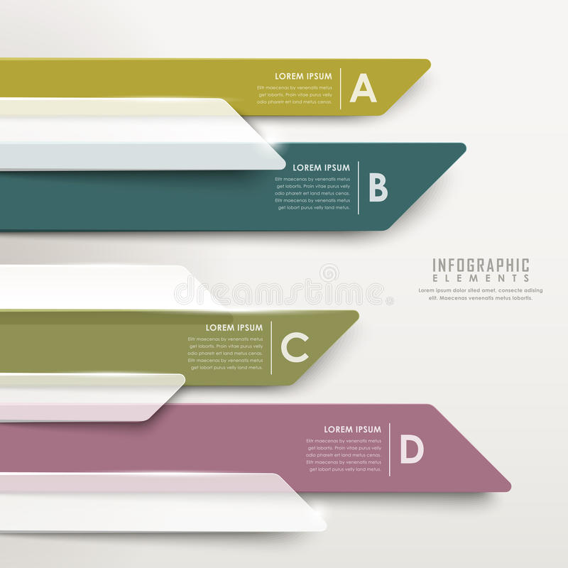 infographic现代抽象透亮箭头的长条图 向量例证