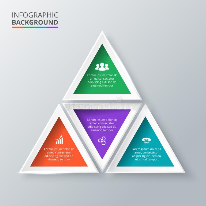 infographic的传染媒介三角 皇族释放例证