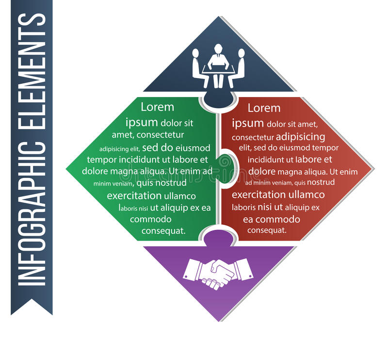 infographic的例证 企业概念传染媒介包括能力和交易联合象  库存例证