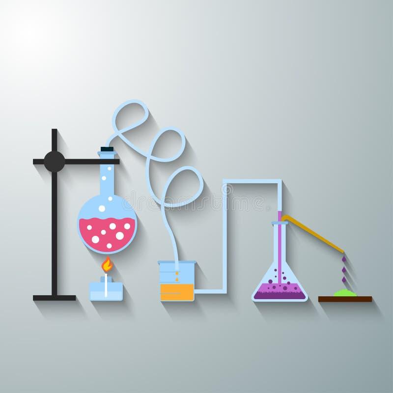 infographic的化学制品 库存例证