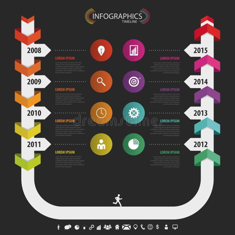 infographic的时间安排,传染媒介设计模板 投反对票 库存例证
