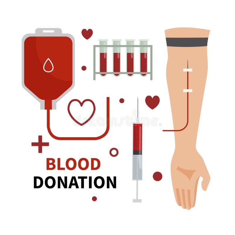 infographic的献血 向量例证