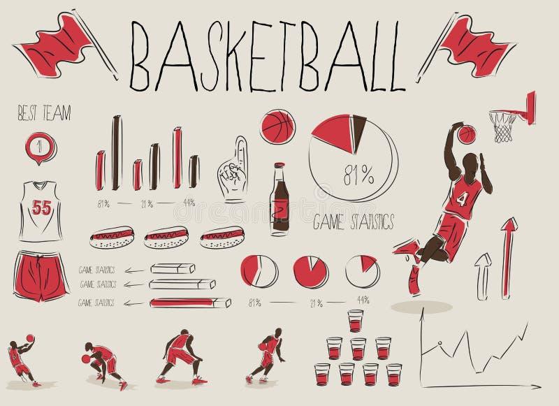 infographic的篮球 库存例证