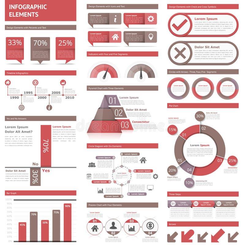 infographic的要素 皇族释放例证
