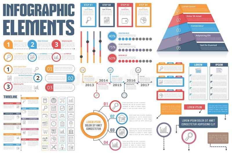 infographic的要素 向量例证