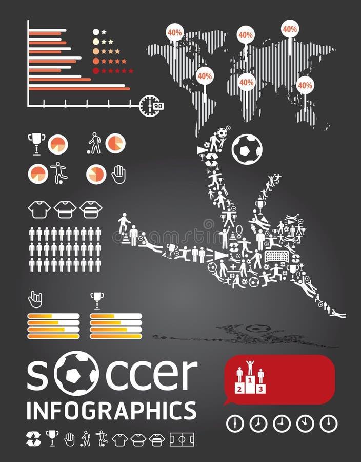 infographic的足球   皇族释放例证