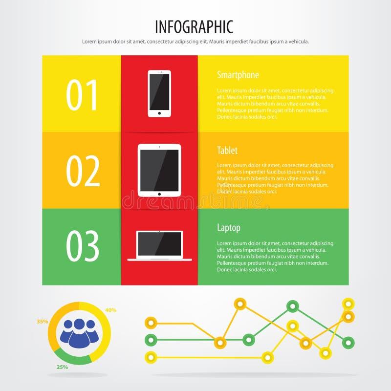 infographic的通信设备 库存例证