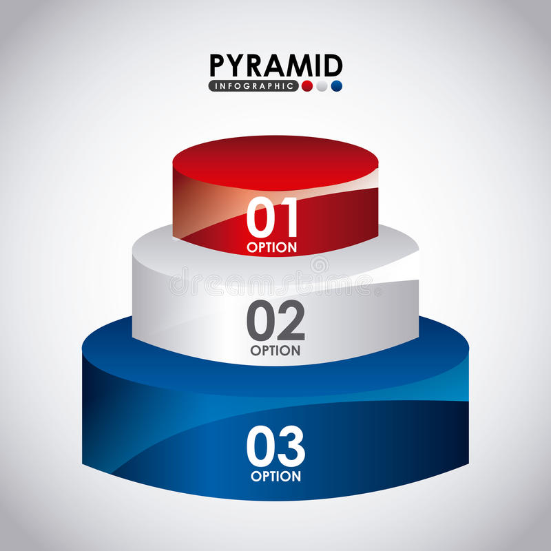 infographic的金字塔 向量例证