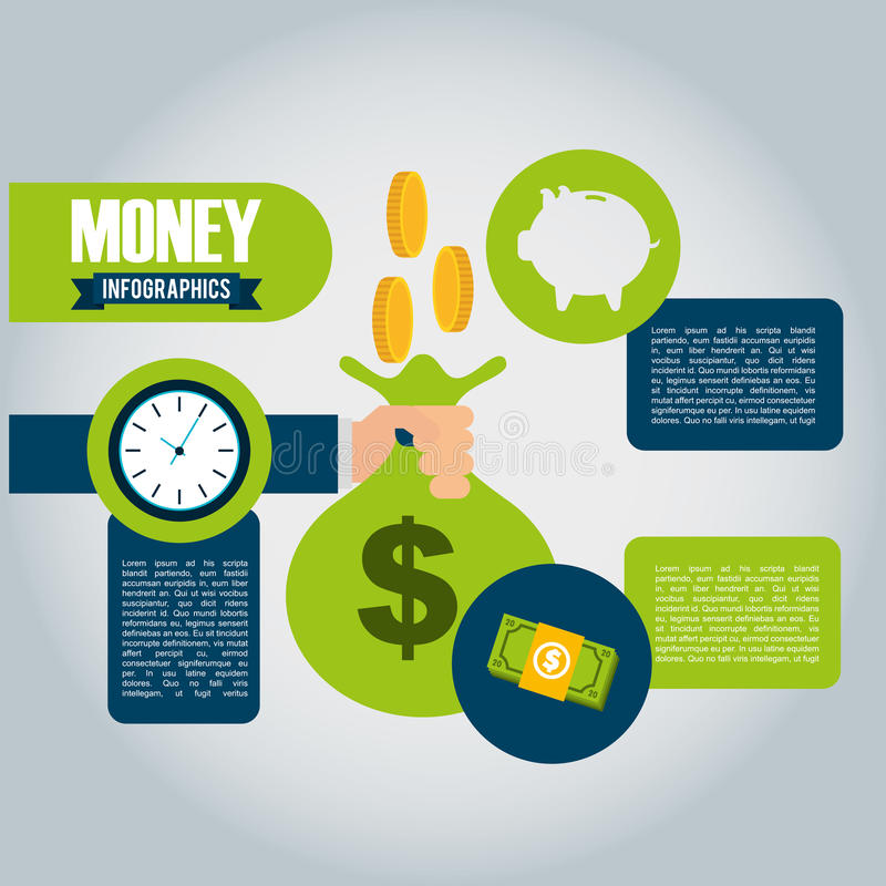 infographic的金钱 向量例证
