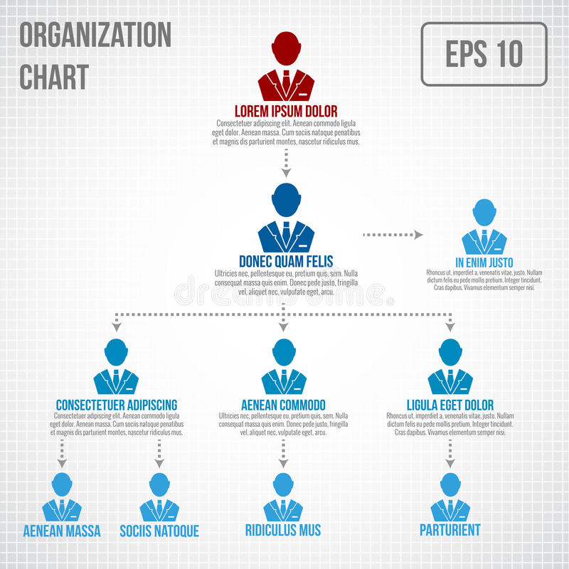 infographic的组织系统图 向量例证