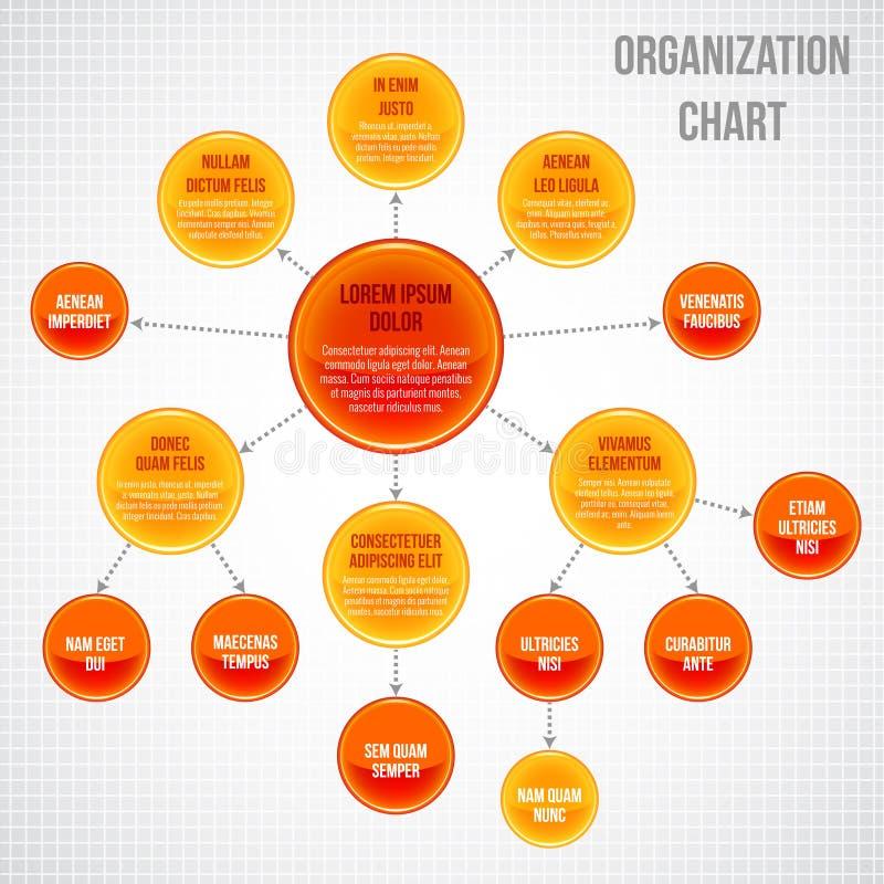 infographic的组织系统图 库存例证