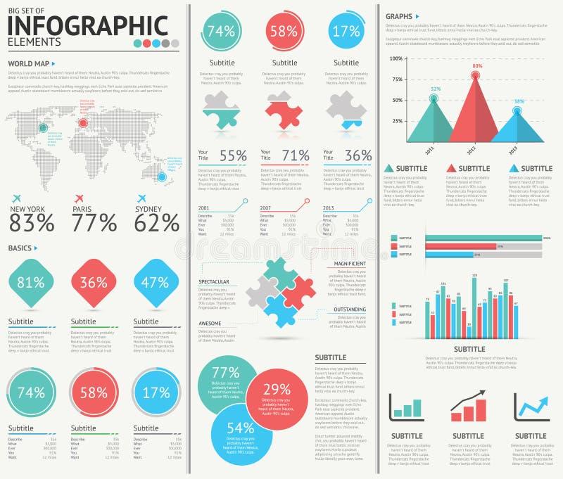 Infographic网络设计传染媒介元素 向量例证