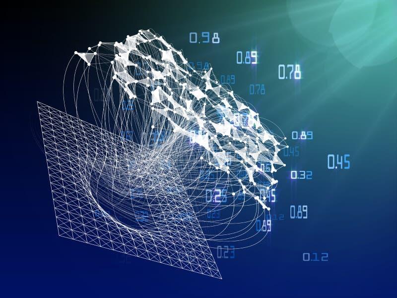 infographic计算的算法人为的密码学 大数据栅格形象化 库存例证