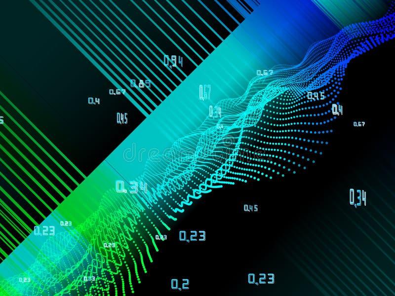 infographic计算的算法人为的密码学 大数据颜色形象化 向量例证