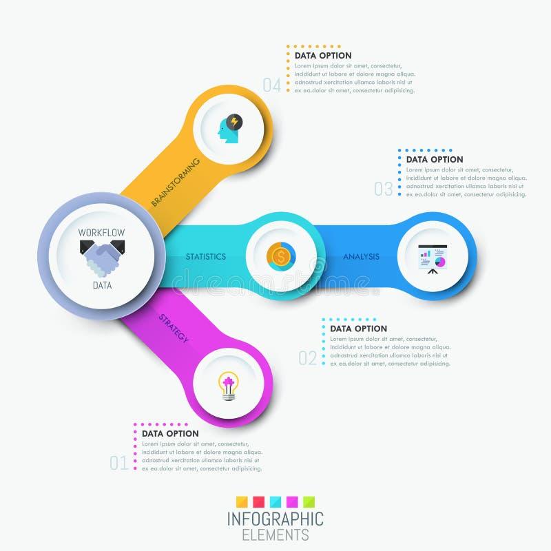 Infographic设计模板 皇族释放例证