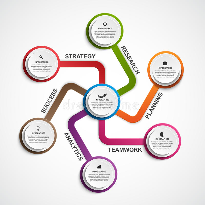 Infographic设计组织系统图模板 皇族释放例证
