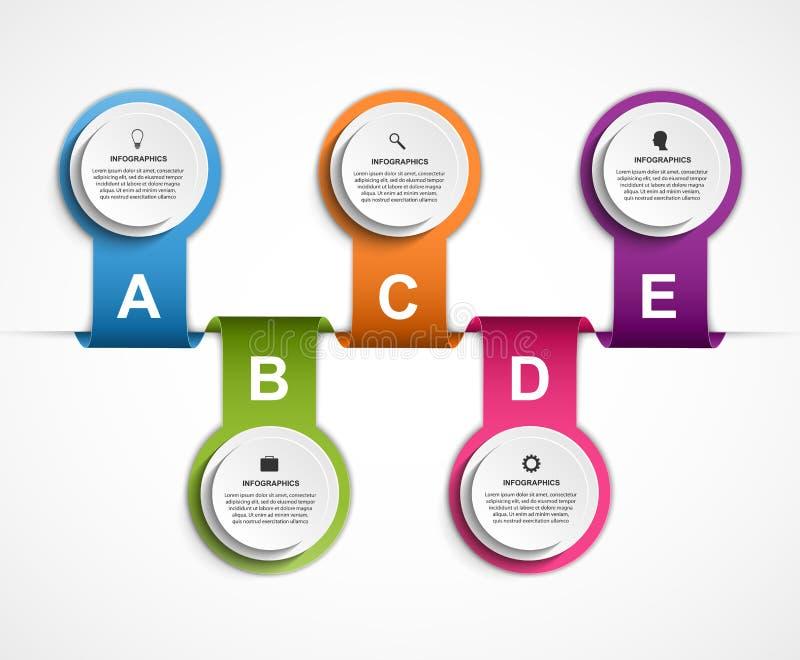Infographic设计组织系统图模板 向量例证