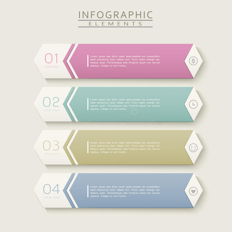 朴素infographic设计 库存例证