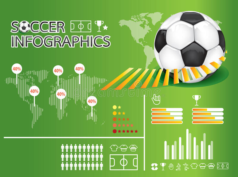 Infographic足球   向量例证