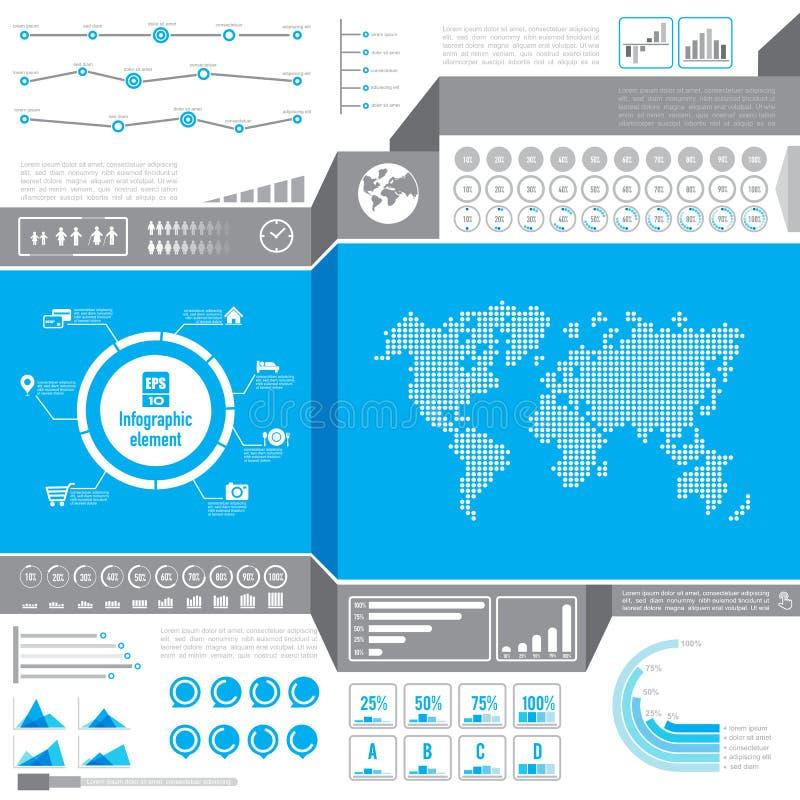 infographic,轻的世界酒吧percenta的图形设计元素 库存例证