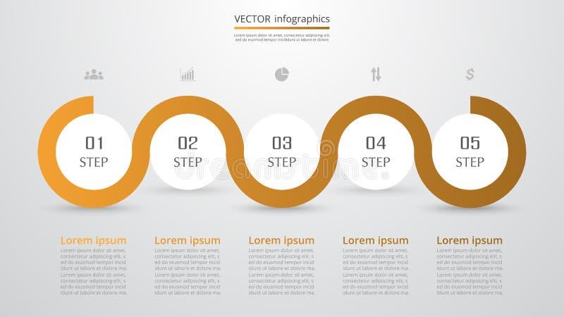 Infographic étape-par-étape illustration de vecteur