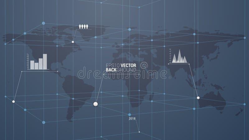 Infographic światu miejsce przeznaczenia ilustracji
