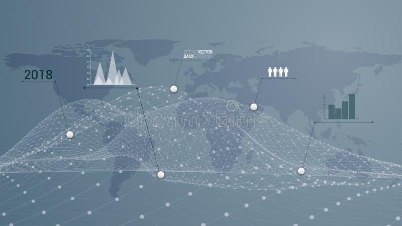 Infographic światu miejsce przeznaczenia ilustracja wektor