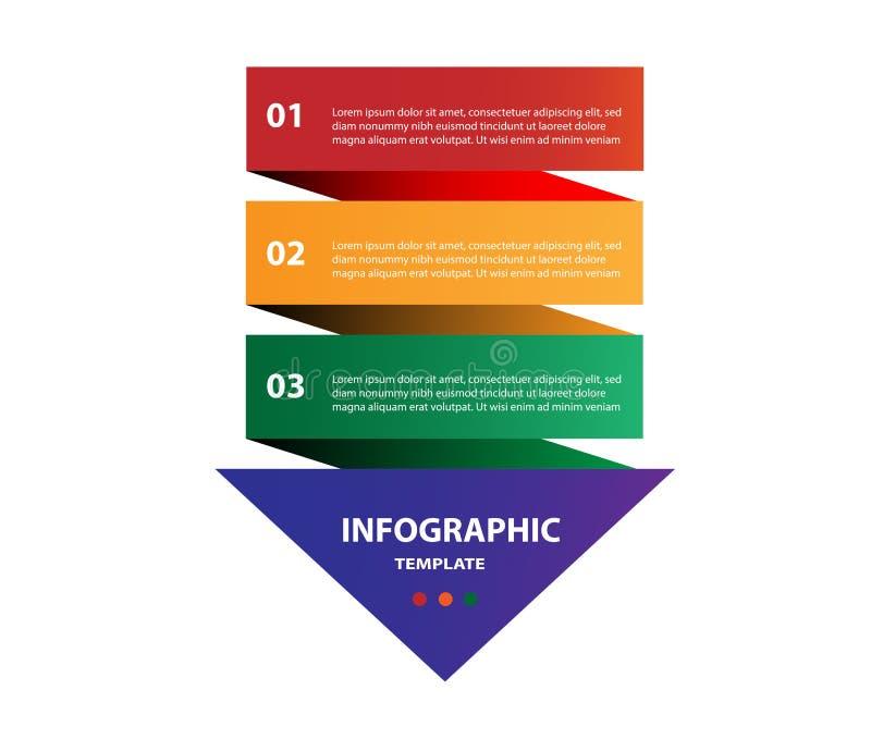Infographic έννοια βελών πολύχρωμη στοκ φωτογραφία με δικαίωμα ελεύθερης χρήσης
