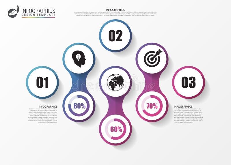 infographic έννοια Πρότυπο για το διάγραμμα, γραφική παράσταση διάνυσμα διανυσματική απεικόνιση