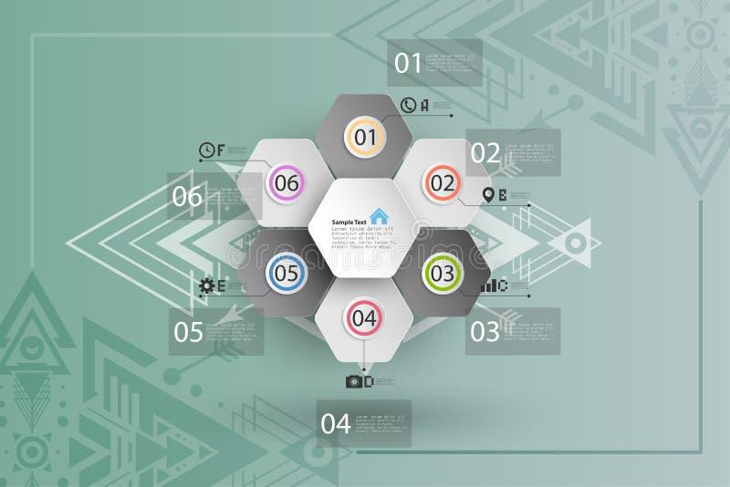 Infographic για την επιχείρηση, γεωμετρικό υπόβαθρο απεικόνιση αποθεμάτων