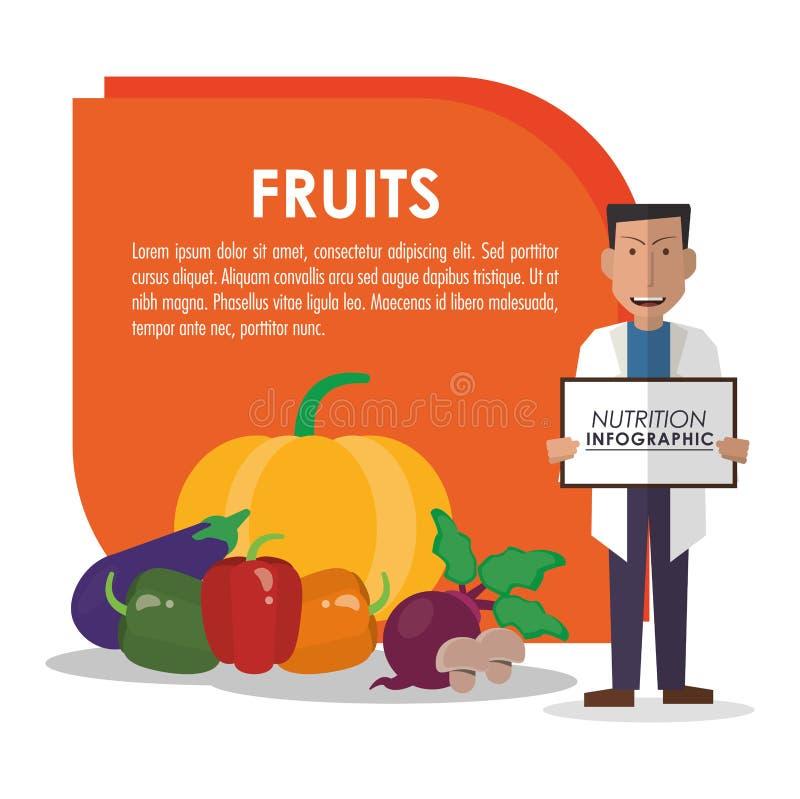 Infographic εικονίδιο τροφίμων διατροφής ελεύθερη απεικόνιση δικαιώματος