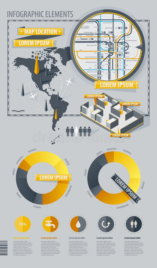 infographic κόσμος χαρτών στοιχείων στοκ φωτογραφία με δικαίωμα ελεύθερης χρήσης