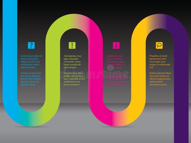 Infographic με την κορδέλλα ουράνιων τόξων απεικόνιση αποθεμάτων
